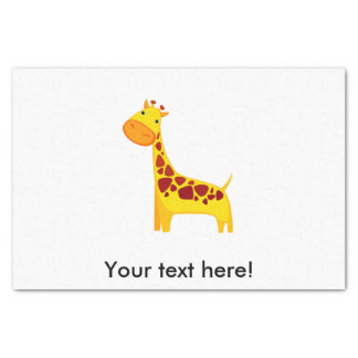 Cute giraffe cartoon tissue paper