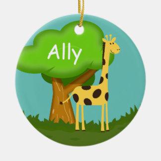 Cute Giraffe Ceramic Ornament