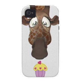 Cute Giraffe & Cupcake iPhone 4/4S Case-Mate iPhone 4 Cases