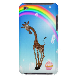 Cute Giraffe, Cupcake & Rainbow Barely There iPod Covers