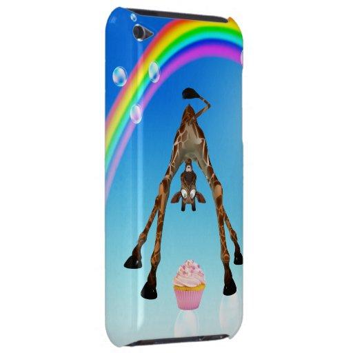 Cute Giraffe, Cupcake & Rainbow iPod Touch Cover