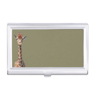 Cute giraffe face business card holder