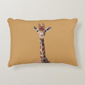 Cute giraffe face decorative cushion