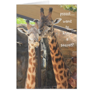 Cute Giraffe Over-the-Hill Birthday Card