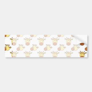 Cute Giraffe Pattern Bumper Stickers