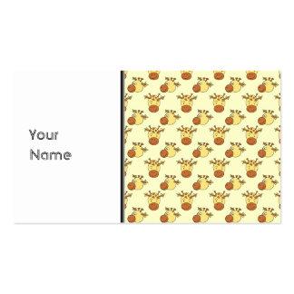 Cute Giraffe Pattern. Cartoon Animals. Business Card Templates