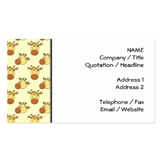 Cute Giraffe Pattern. Cartoon Animals. Pack Of Standard Business Cards