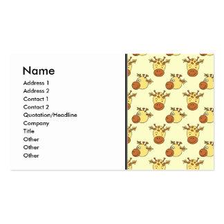 Cute Giraffe Pattern. Cartoon Animals. Business Card