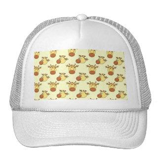 Cute Giraffe Pattern. Cartoon Animals. Trucker Hat