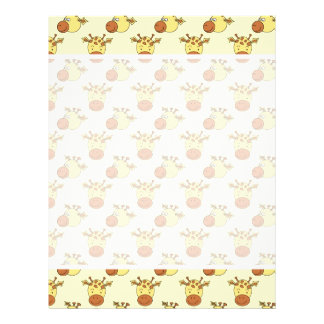 Cute Giraffe Pattern Cartoon Animals Flyer