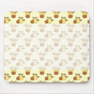 Cute Giraffe Pattern. Cartoon Animals. Mouse Pads