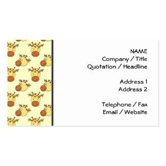 Cute Giraffe Pattern. Cartoon Animals. Pack Of Standard Business Cards