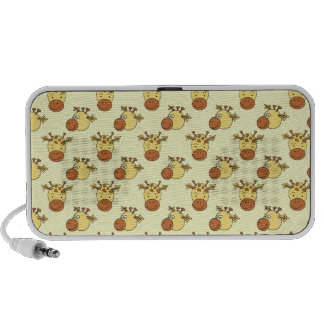 Cute Giraffe Pattern. Cartoon Animals. Portable Speakers