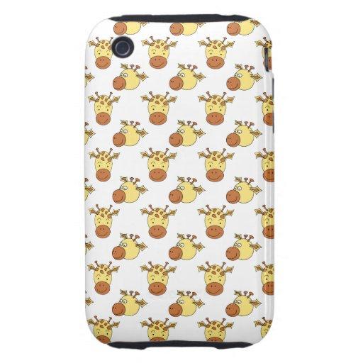 Cute Giraffe Pattern. iPhone 3 Tough Cover