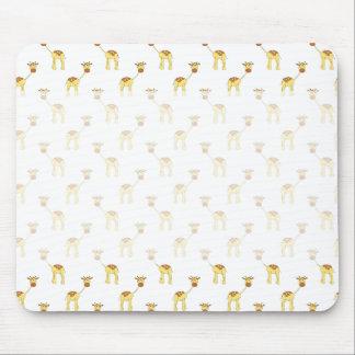 Cute Giraffe Pattern. Mouse Pad