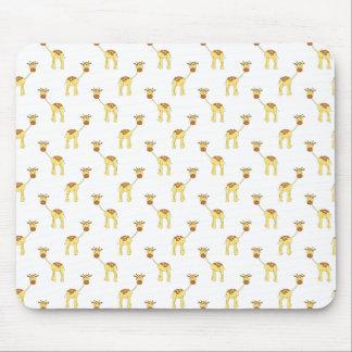 Cute Giraffe Pattern. Mouse Pads