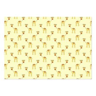 Cute Giraffe Pattern on Yellow. Business Cards