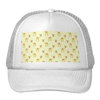 Cute Giraffe Pattern on Yellow. Trucker Hat
