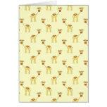 Cute Giraffe Pattern on Yellow. Card