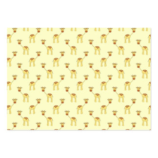Cute Giraffe Pattern on Yellow. Pack Of Chubby Business Cards