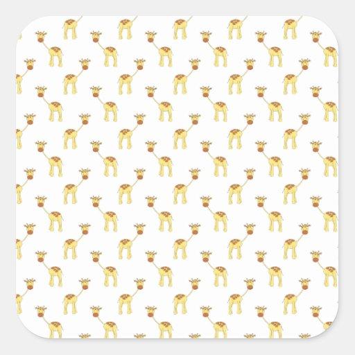 Cute Giraffe Pattern. Stickers
