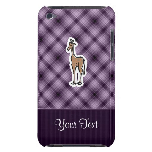 Cute Giraffe; Purple iPod Touch Cases