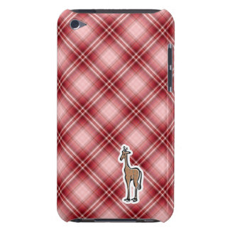Cute Giraffe; Red Plaid Barely There iPod Covers