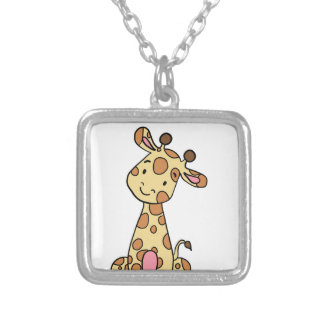 CUTE GIRAFFE SILVER PLATED NECKLACE