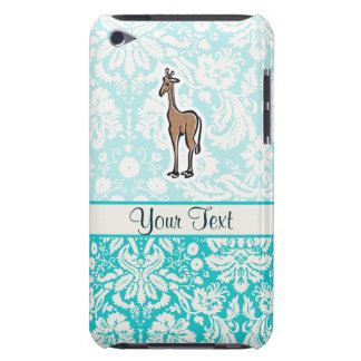 Cute Giraffe; Teal Barely There iPod Case