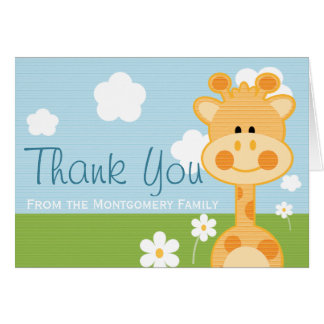 CUTE GIRAFFE THANK YOU CARD