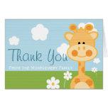 CUTE GIRAFFE THANK YOU NOTE CARD