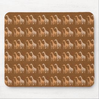 Cute Giraffe Trio Pattern~ Unique Wildlife Design Mouse Pad