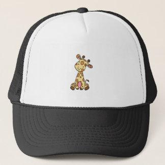 CUTE GIRAFFE TRUCKER HAT