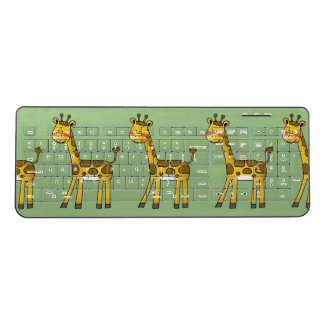 cute giraffe wireless keyboard