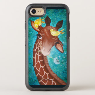 Cute Giraffe with Birds OtterBox Symmetry iPhone 8/7 Case