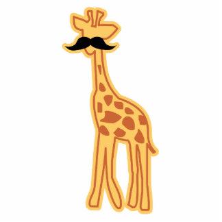 Cute giraffe with mustache Magnet/Sculpture Photo Sculptures