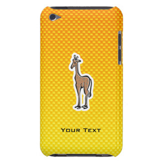 Cute Giraffe Yellow Orange Barely There iPod Cases