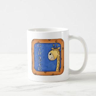 Cute Giraffe Zoo Animal Block Coffee Mugs