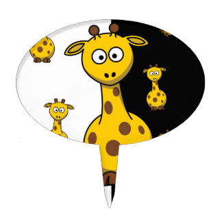 Cute Giraffes Cake Picks
