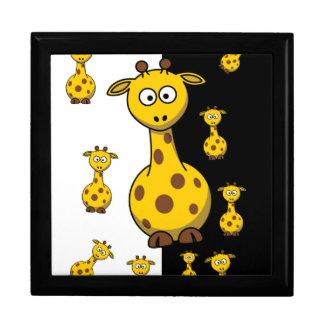 Cute Giraffes Large Square Gift Box