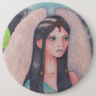 Cute Girl Angel winged 6 Cm Round Badge
