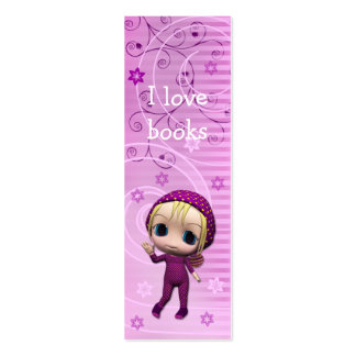 Cute Girl Bookmark Design Pack Of Skinny Business Cards