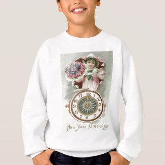 Cute Girl Bouquet Roses Clock Midnight Sweatshirt