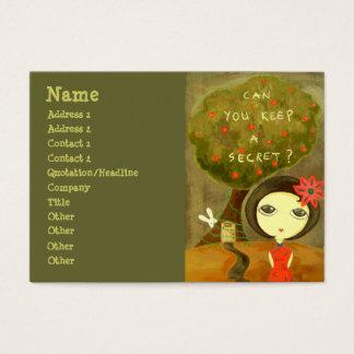 Cute Girl - Can You Keep A Secret? Business Card