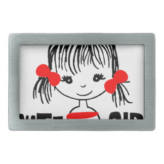 cute girl, cool design rectangular belt buckles