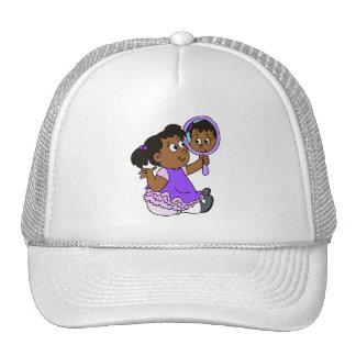 Cute girl dark skin cap