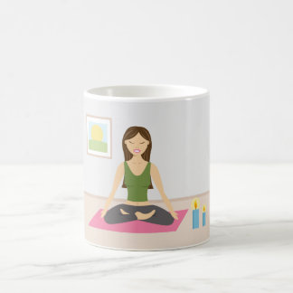 Cute Girl Doing Yoga In A Pretty Room Coffee Mug