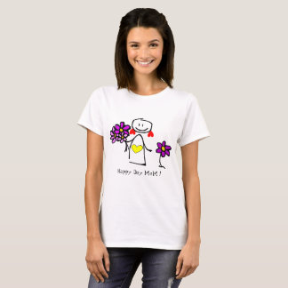 Cute Girl Flowers, Tshirt - Insert Photo Text