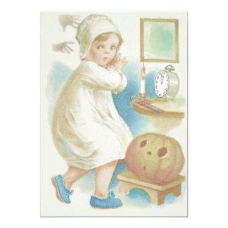 Cute Girl Ghost Jack O Lantern Pumpkin 13 Cm X 18 Cm Invitation Card