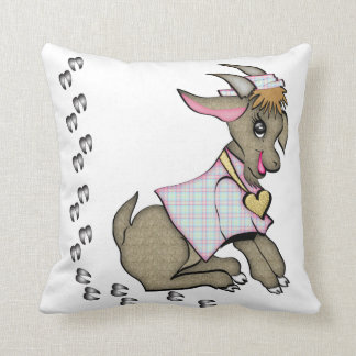Cute Girl Goat with Jacket and Hat Pillow